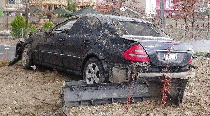 Ağaçören Belediye Başkanı Cumartesi Günü Makam Aracıyla  Kaza Yaptı