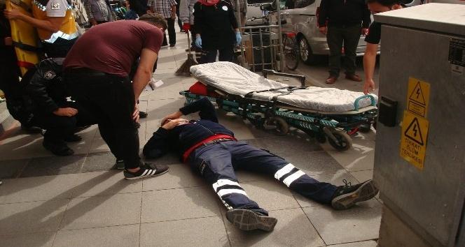 Eczane çalışanı maske denetimi yapan 112 Şube Müdürüne kafa attı