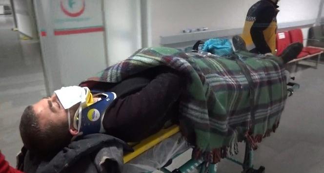 Aksarayda otomobil şarampole devrildi: 1 yaralı