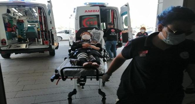 Aksarayda otomobiller çarpıştı: 4 yaralı