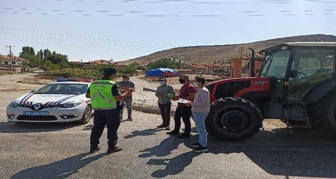 Aksaray jandarma traktör denetiminde